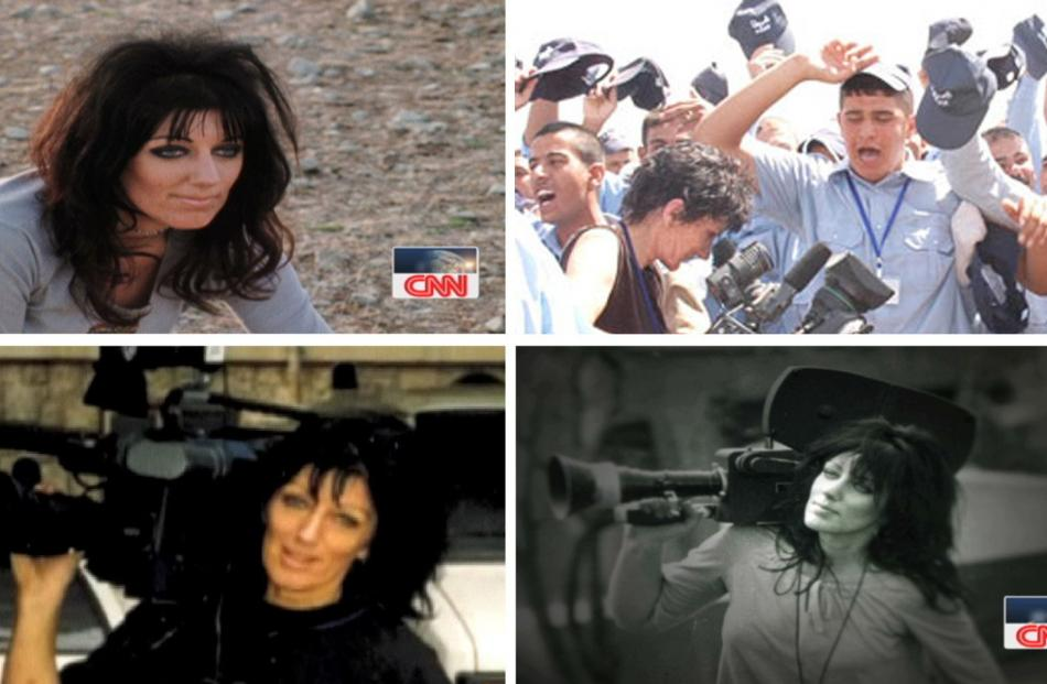 Margaret Moth is shown in three scenes from 'Fearless', CNN's tribute film to their staff member....