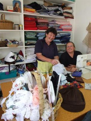 Marilyn Swinbourn (left) of Naseby, and Dot Davidson of Ranfurly have set up a business making...