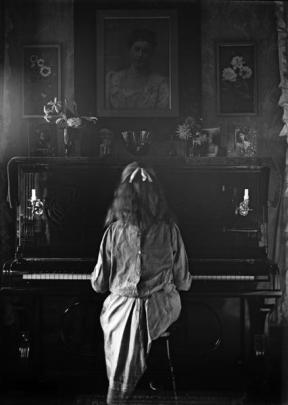 Marion Scott Playing the Piano is among the works at ''Peeps of Life: Photographs by John...