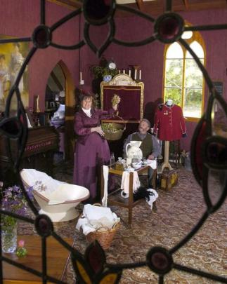 Marise Martin demonstrates how to be a Victorian 'Domestic Goddess' while her husband Graeme...