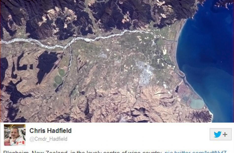 Marlborough as seen from space by Chris Hadfield
