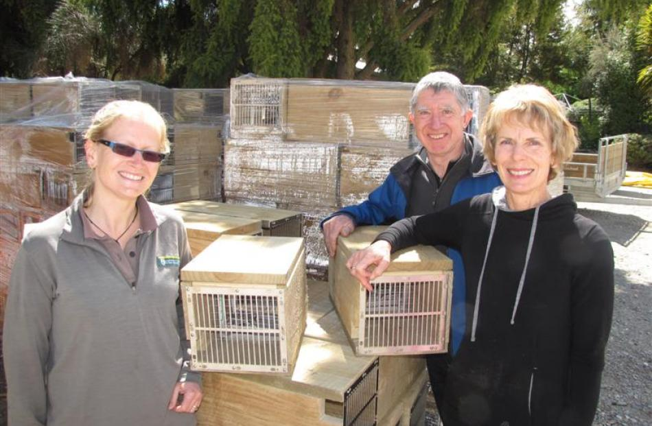 Matukituki Charitable Trust founders Derek and Gillian Crombie (right), and Department of...