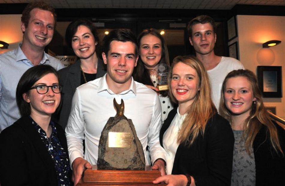 Members of Ignite Consultancy's executive team celebrating their Supreme Award at Nova cafe last...