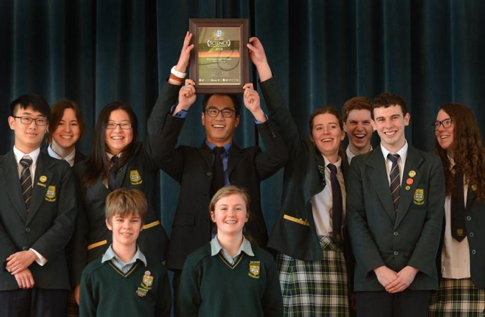 Members of the Bayfield High School  team which was the top school in Otago in the  ASTA + NZASE...