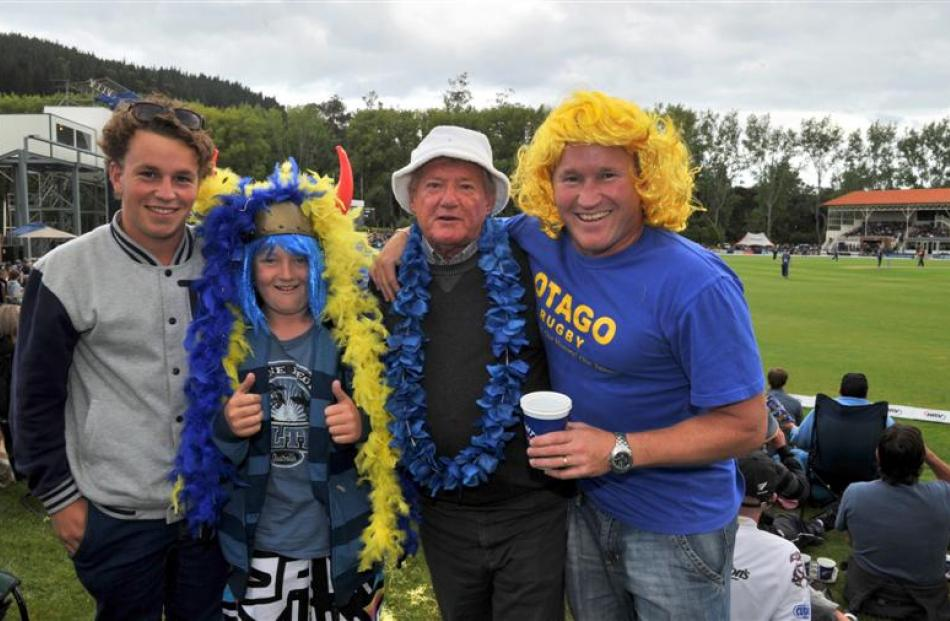 Members of the May family (from left) Tarris (17), of Timaru, Harry (12), of Oamaru, Blue, of...