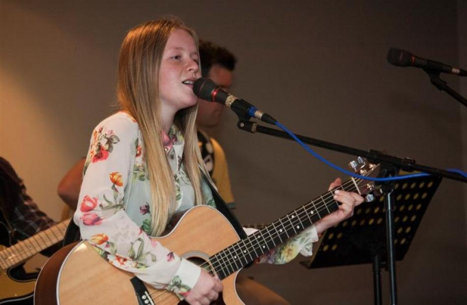 Michelle Hendriks, of Balclutha, performs at the Big River Talent Quest in Balclutha at the...
