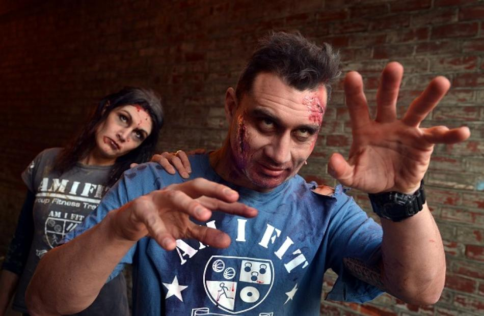 Mike and Alana Ivamy are running a Zombie Survival Run being held in Dunedin next month. Photo...