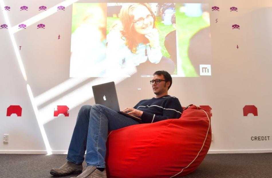 MixBit lead programmer Joshua Garner at work in MixBit's Silicon Valley-style Princes St office....