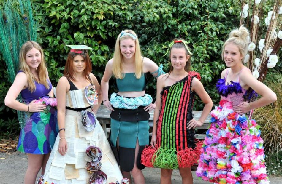 Modelling wearable arts costumes for the Recycled Runway and Fantasy Catwalks exhibition at...