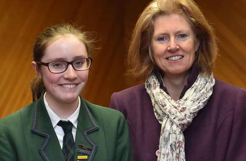 Molly (14) and Jenny Crighton, of Dunedin.