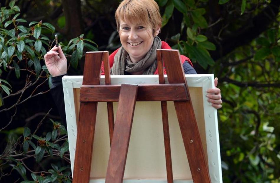 Mosgiel artist Marie Reid last week. Photos by Peter McIntosh/supplied.
