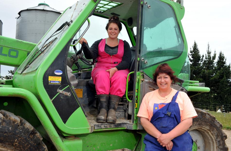 Mother and daughter duo Debbie and Sam Fox run a piggery in North Otago. Photo by Gregor Richardson