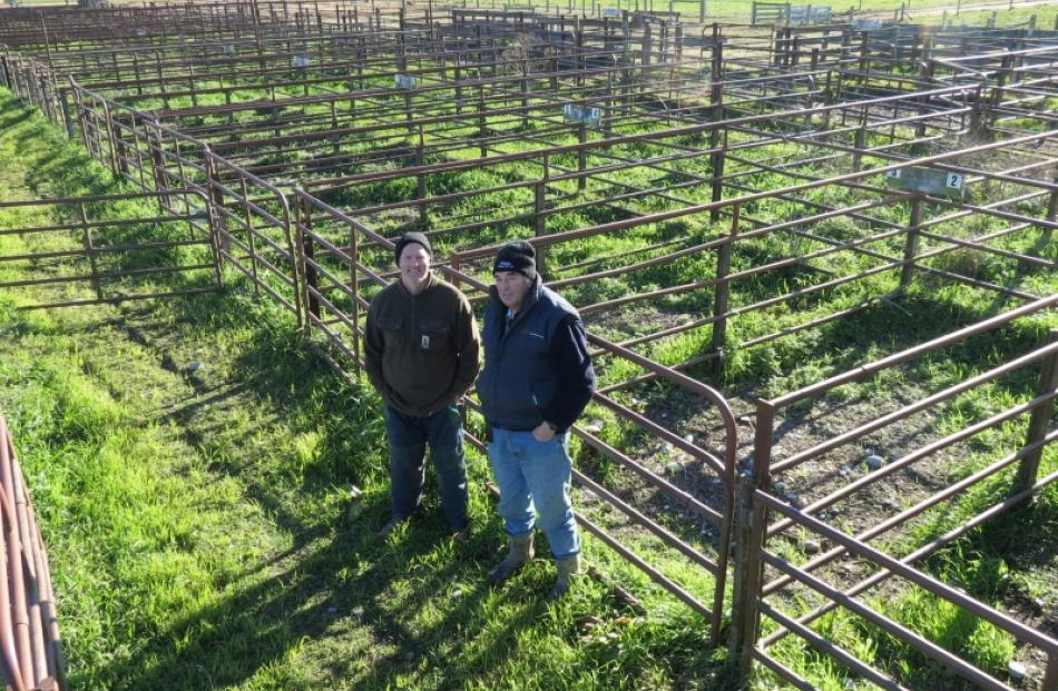 Mt Benger Saleyards Trust members retell some of their memories about the yards. From left is new...