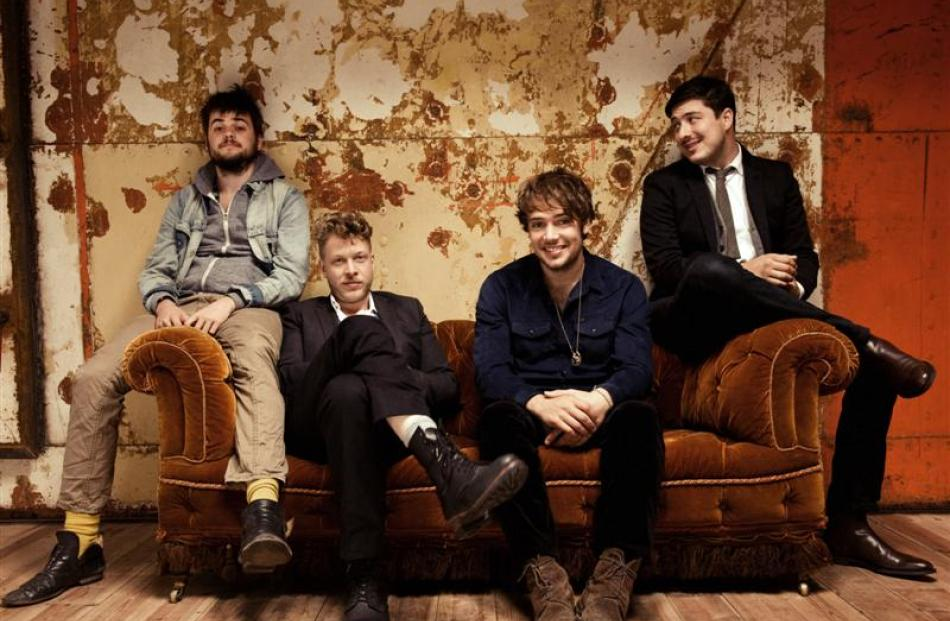 Mumford and  Sons (from left) Winston Marshall, Ted Dwane, Ben Lovett and Marcus Mumford. Photo...