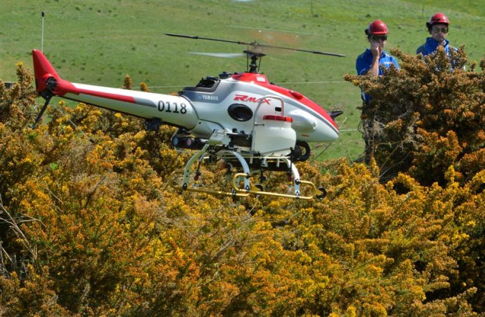 Drone spray helicopter flies by wire | Otago Daily Times Online News