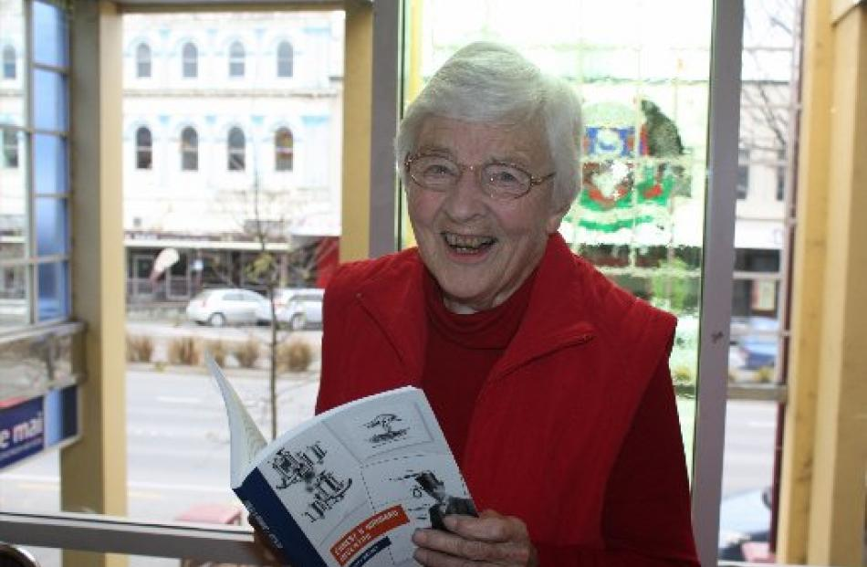 Nelson author Shirley Walker at the Invercargill Public Library launch of the biography she has...