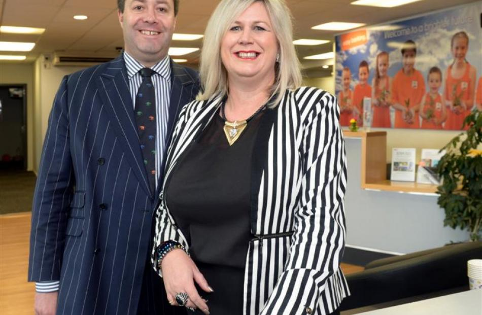 New chief executive Tania Dickie with chairman Bevan Killick. Photo by Gerard O'Brien.