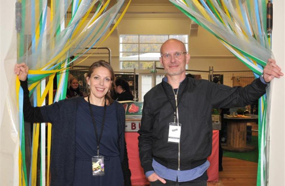 New Nordic Food representatives Elisabet Skylare and Nikolaj Danielsen move through the...