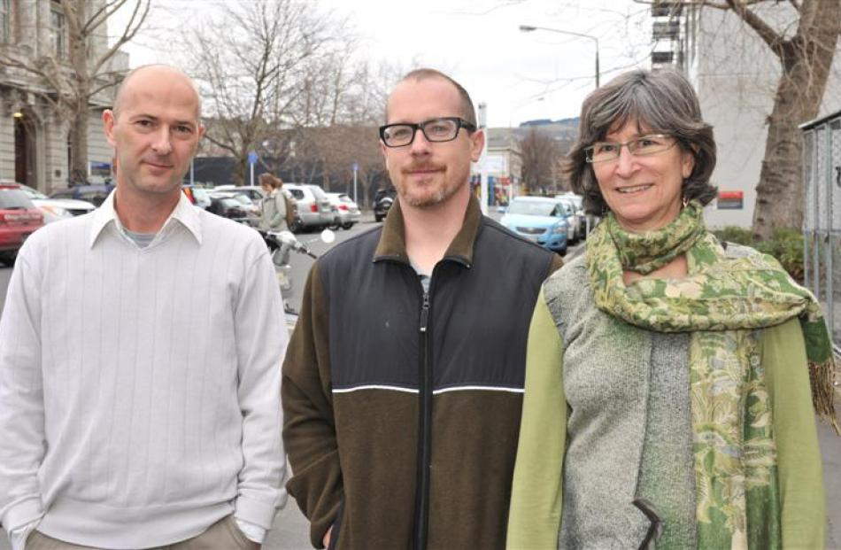 New staff at the University of Otago Centre for Science Communication (from left)  Dr  Fabien...
