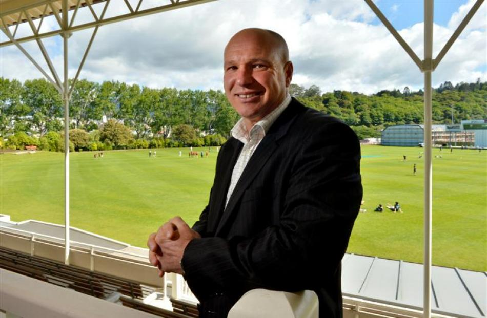 New Zealand Cricket chief executive David White at the University Oval yesterday. Photo by Gerard...