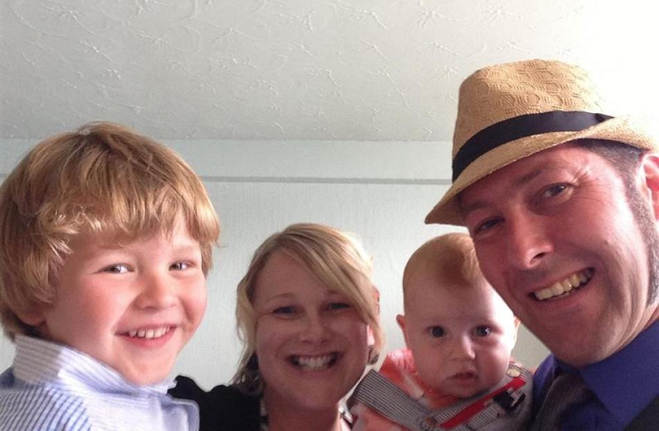 New Zealand fashion designers have stepped forward to help Dunedin family (from left) Oli Biggs,...