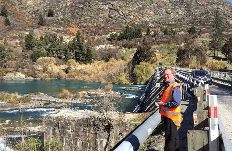 New Zealand Transport Agency senior project manager Phil Dowsett at the Kawarau Falls Bridge....