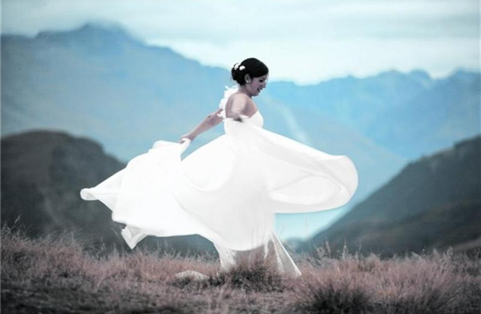 Nicole Kunzmann, who married Matthew Humphrey in April at Arthurs Point, Queenstown. Photo by...