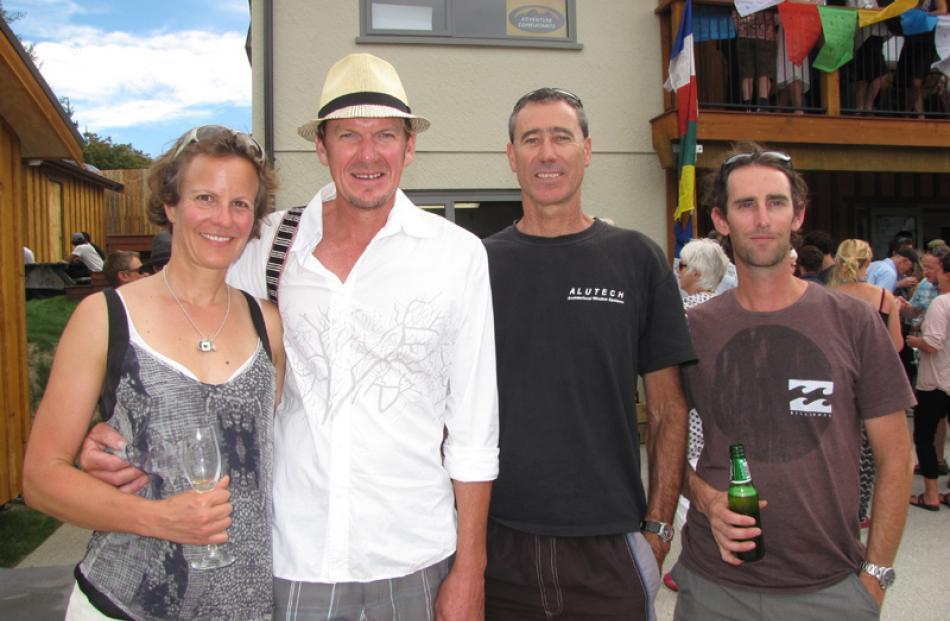 Nina Conradi and Nick Hay of Lake Hawea, Jeff Lambert of Wanaka, and Dan Cotter of Albert Town.