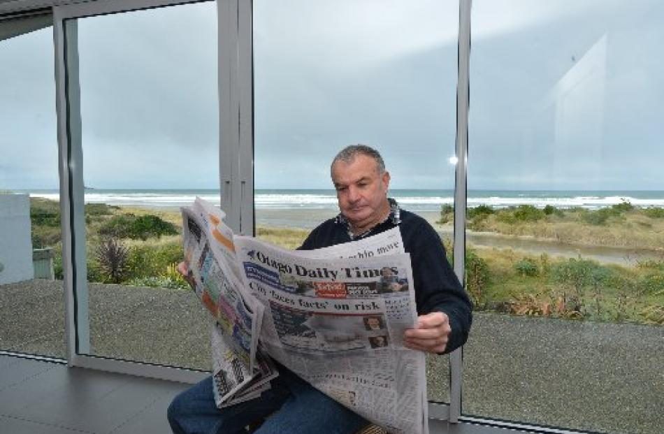 Ocean View resident Stewart Alderton catches up with the Dunedin City Council's natural hazards...
