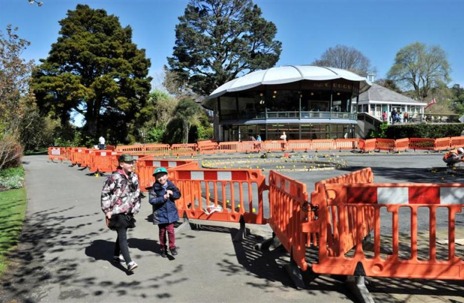 On the way to feed the ducks at the Dunedin Botanic Garden, Brooklyn Spedding (11) and her...