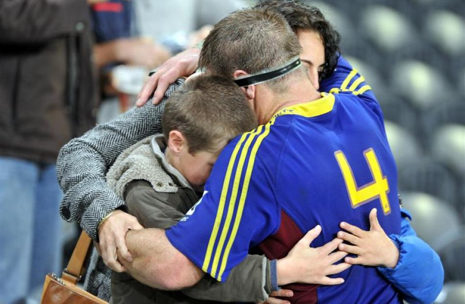 One of the few highlights of the Highlanders season was Brad Thorn always giving his all. Here he...