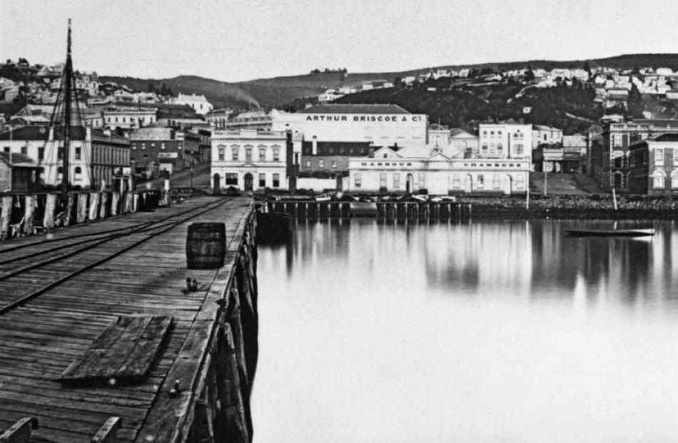 One of the first Briscoes stores, on the corner of Princes and Jetty Sts, Dunedin. Photo by the...