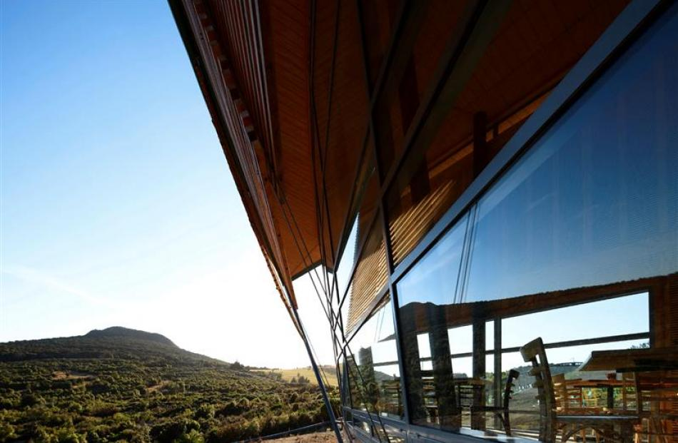Orokonui Ecosanctuary visitor centre, designed by Architectural Ecology. Photos supplied.