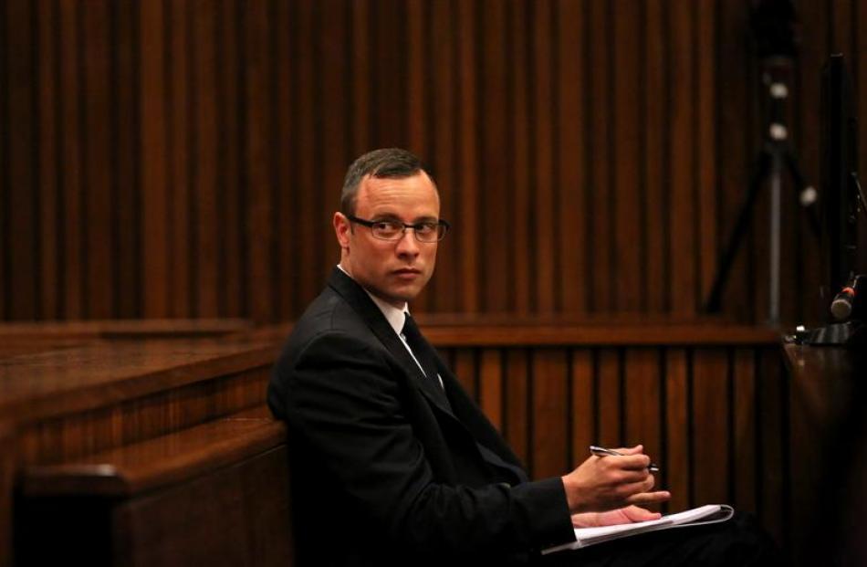 Oscar Pistorius.    REUTERS/Siphiwe Sibeko/POOL