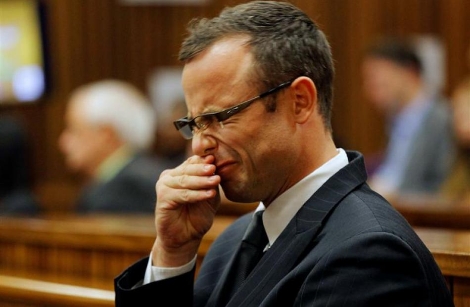 Oscar Pistorius argued with a police officer then fired his gun through his car's open sunroof, a...