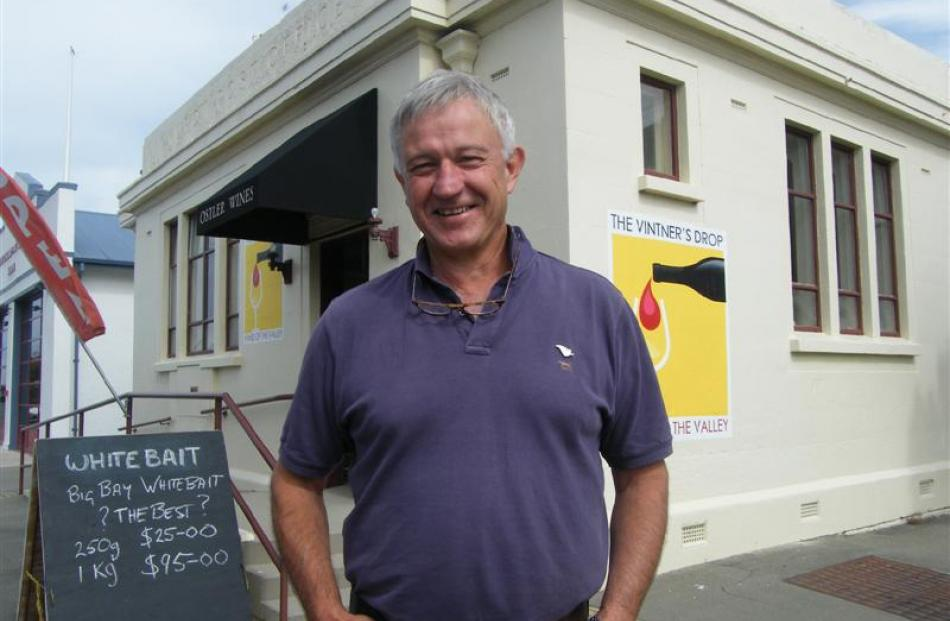 Ostler Vineyards owner Jim Jerram stands outside his Kurow cellar door and tasting room, The...