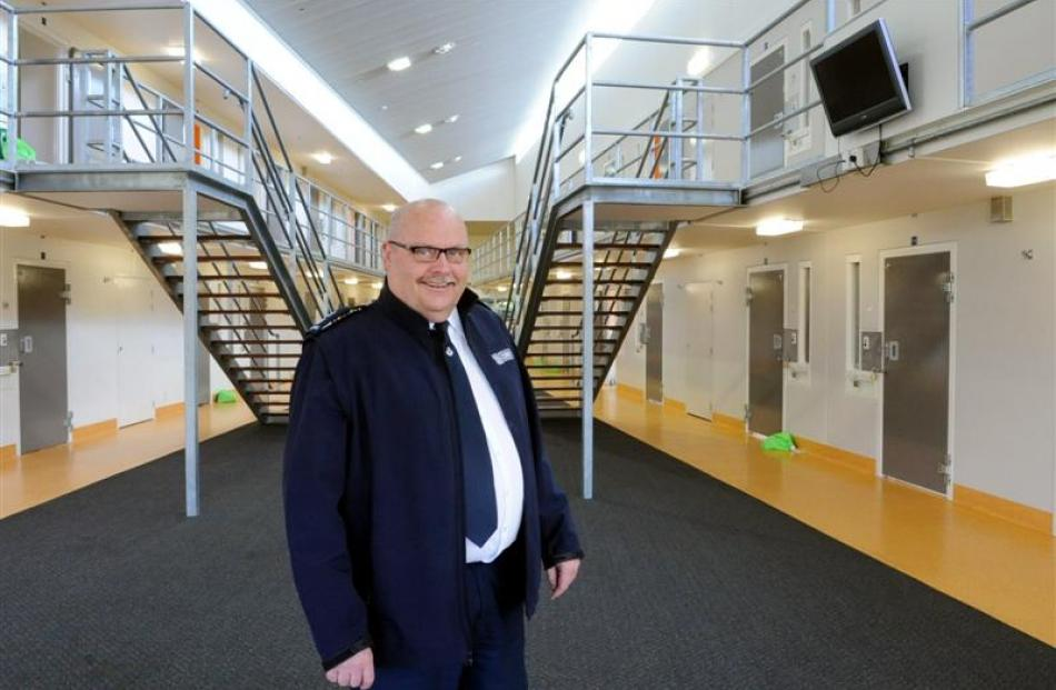 Otago Corrections Facility manager Jack Harrison in the low security Weka Unit, which houses...