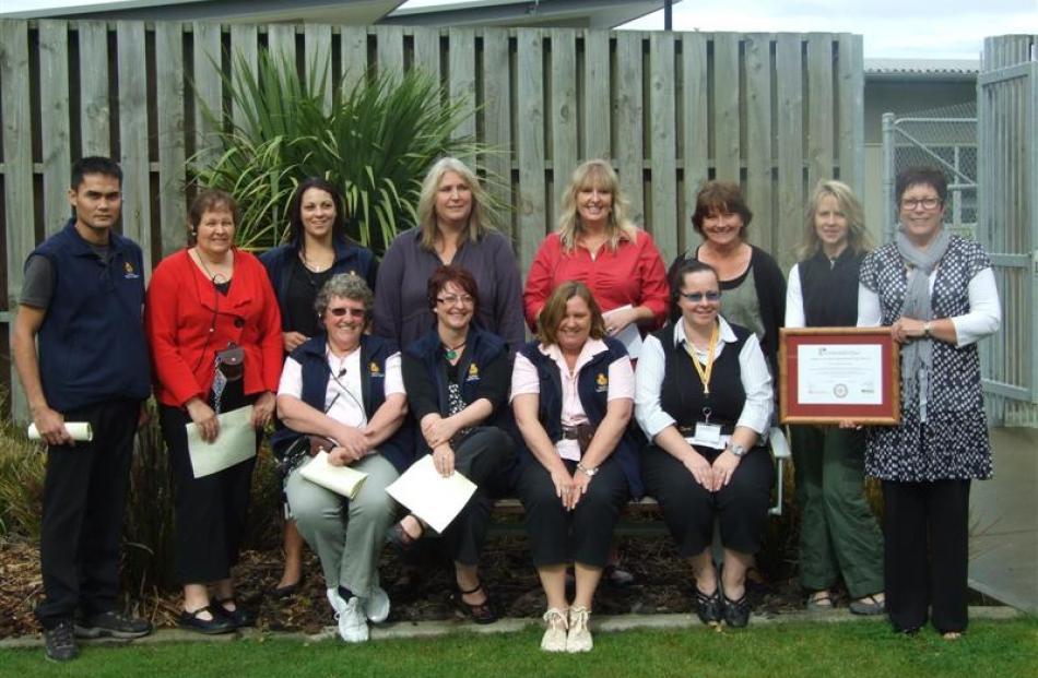 Otago Corrections Facility nurses celebrate their accreditation from the Royal New Zealand...