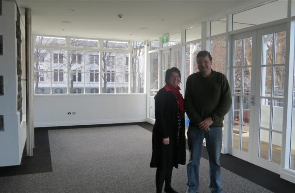 Otago Museum director of Collections, Research and Experience  Clare Wilson  and Naylor Love site...