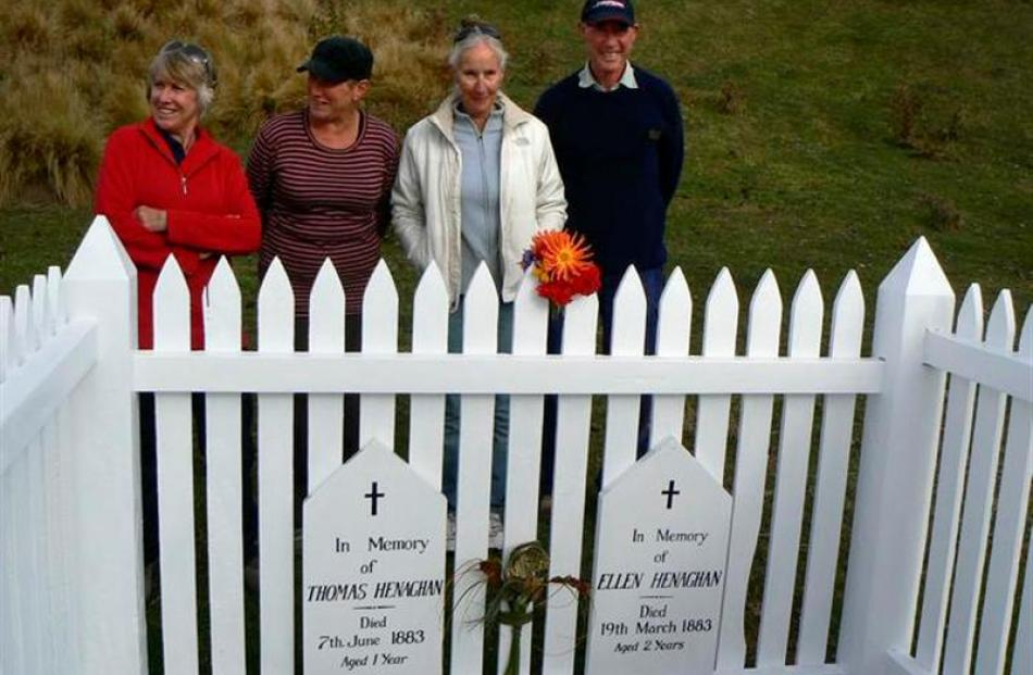 Otago Peninsula Museum  and  Historical Society members (from left) Brenda Cameron, secretary...