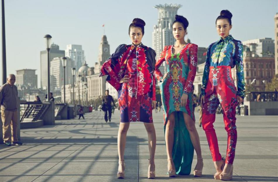 Otago Polytechnic student Soohee Moon's designs, shot in Shanghai. Photos by Emily Hlavac Green....