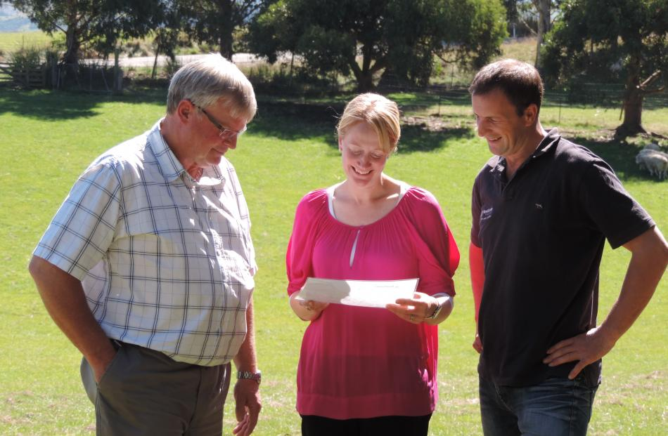 Otago Regional Council chief executive Peter Bodeker (left) looks over plans for Newhaven with...