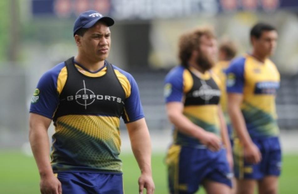 Otago rugby team captains run at Forsyth Barr Stadium last year. Photo by Craig Baxter.