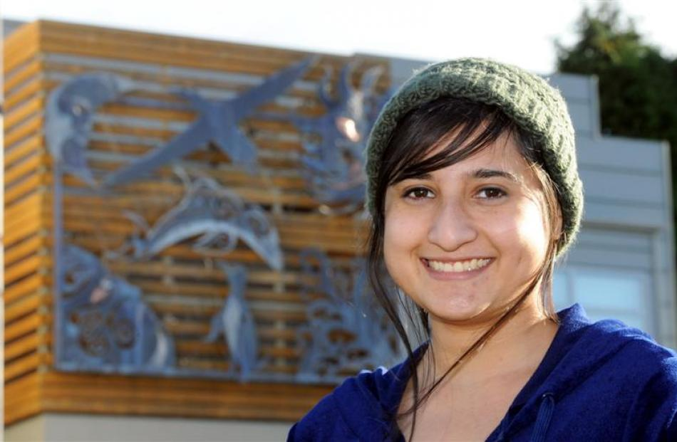 Otago University film-making graduate Ashwika Kapur, pictured outside NHNZ where she now works,...