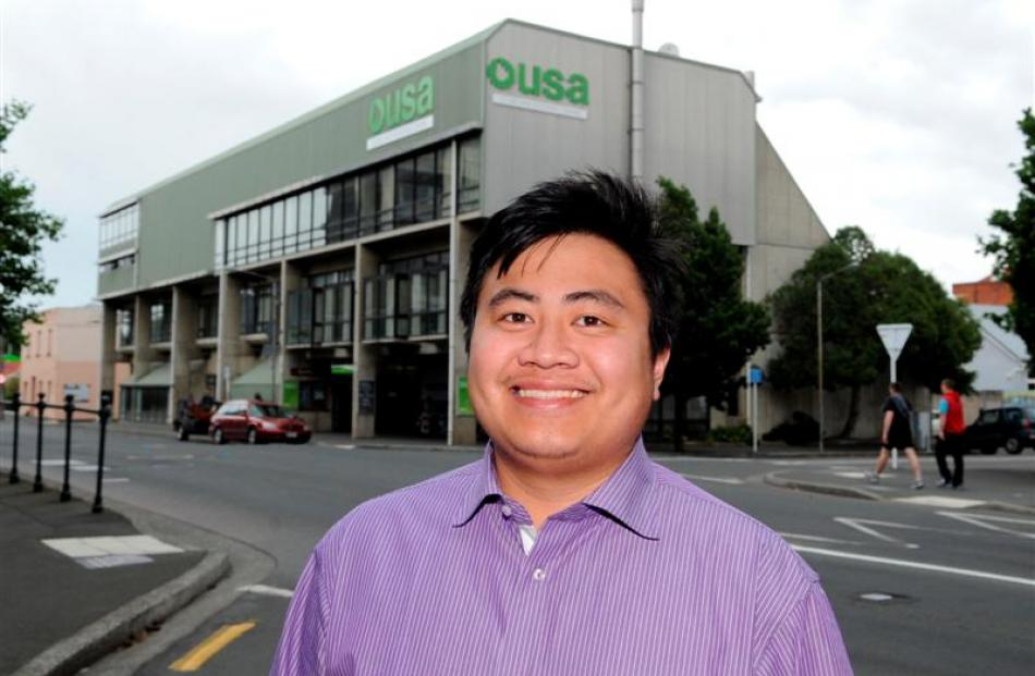 Otago University Students' Association president-elect Francisco Hernandez says a planned...