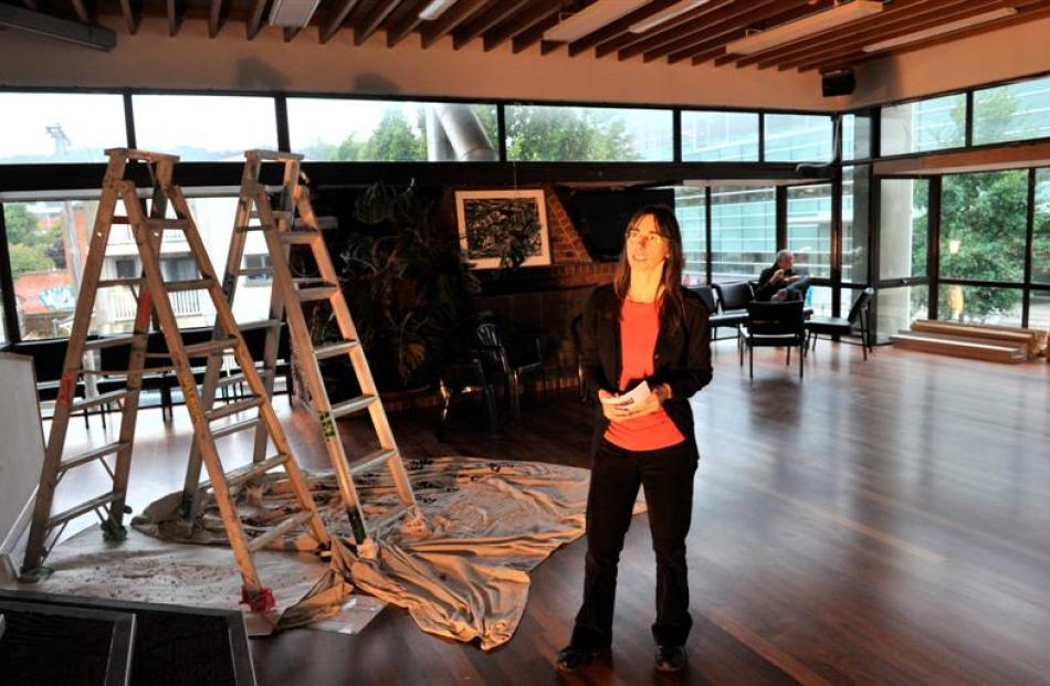 OUSA recreation manager Debbie Coulter checks on refurbishment work in the Evison Lounge at OUSA...