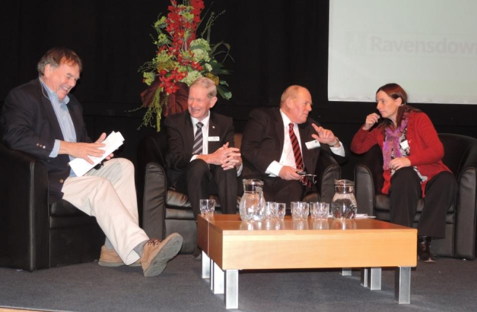 Outlining the role of local government in the rural sector are (from left) Canterbury Employers'...
