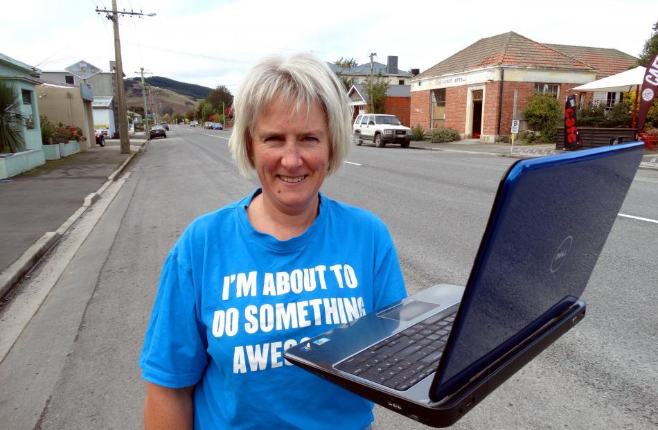 Outram Charitable Trust member and Better Broadband for Outram Facebook monitor Bernadette Hay...