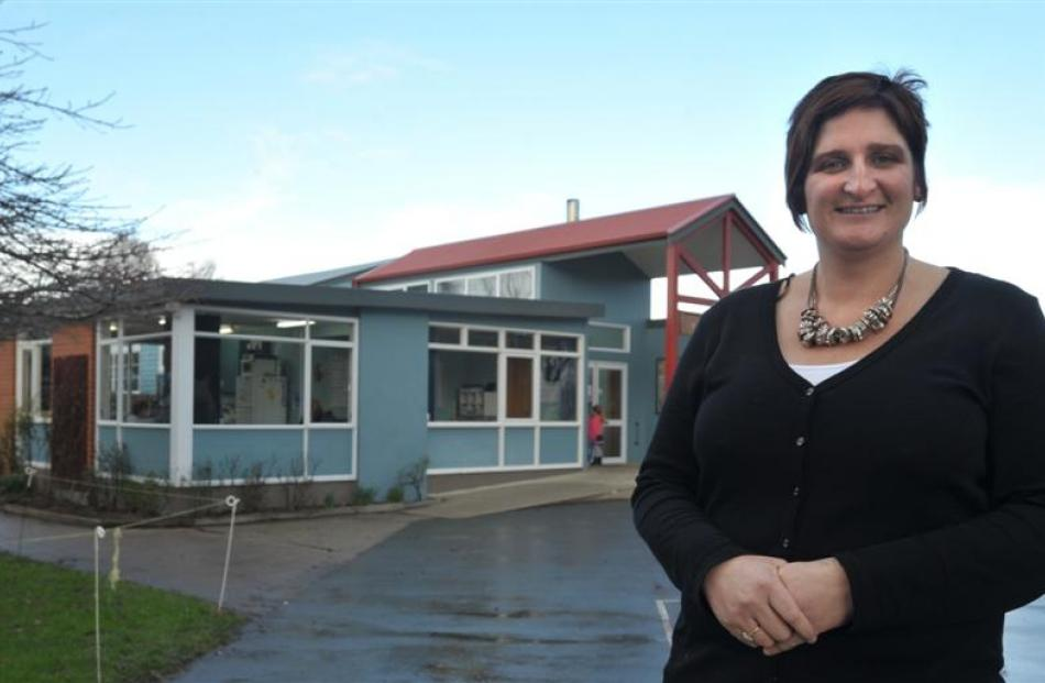 Outram School acting principal Amber Paterson examines the school administration block, which...