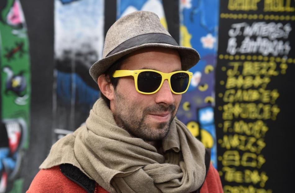 Paris artist elparo  is ready to start his Dunedin Fringe Festival performance elparo emerges...
